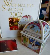 HUTSCHENREUTHER WEIHNACHTEN 2002 PORZELLAN Musik Spieldose Spieluhr NEU
