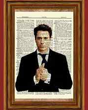 Robert Downey Jr. Dictionary Art Poster Picture Iron Man Actor Collectible