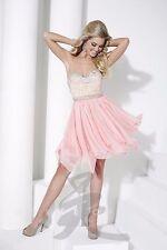 Hannah S. 27942 Coral Stunning Cocktail Dress sz 6