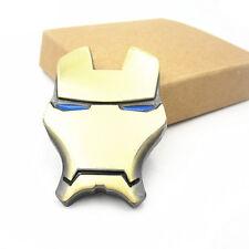 3D Chrome Metal Iron Man Car Emblem Sticker Car Styling Fender Tail Decor Badge