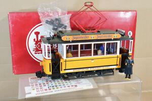 LGB 2035 G Anzeige Gelb Weiß Trolly Straßenbahn Auto Lokomotive Mint Verpackt NZ