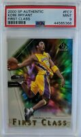 2000-01 SP Authentic First Class Kobe Bryant #FC7, Lakers, Insert, Graded PSA 9