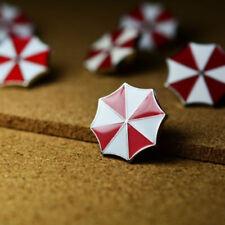 2PCS Resident Evil Umbrella Corporation Badge Brooch Umbrella Hat Lapel Pin