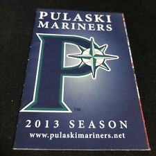 2013 Pulaski Mariners Baseball Pocket Schedule Mariners Affiliate