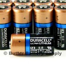 100 x CR123 Duracell 3V Ultra Lithium Batteries (CR123A, DL123, 123, Security)