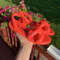 Melissa + Jeremy Scott Neon Orange Inner Tube Jelly Sandal Size 6