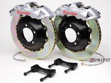 Brembo Front GT Big Brake Kit BBK 6piston Silver 355x32 Slot Disc S4 B6 B7 04-08