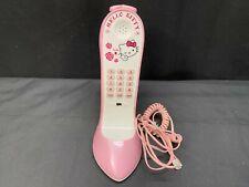 "Novelty Phone  ""HELLO KITTY""  Pink High Heel Shoe Push Button Telephone"