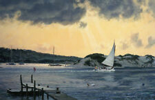 John Stobart Print - Sundown at Menemsha