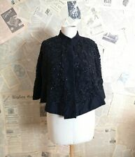 Antique Victorian jet beaded mourning cape
