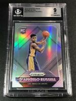 D'ANGELO RUSSELL 2015 PANINI PRIZM SILVER REFRACTOR ROOKIE RC BGS 9 WARRIORS
