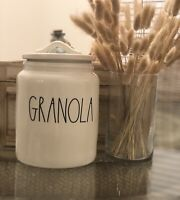"""New RAE DUNN Artisan Collection LL """"GRANOLA"""" Canister By Magenta"""