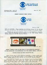 ROBERT CONRAD SHANE CONRAD HIGH MOUNTAIN RANGERS RARE 1987 CBS TV PRESS MATERIAL