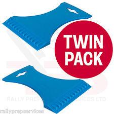 TWIN PACK Tough Flexible Ice Scraper Dual Edge WINDSCREEN SNOW CAR VAN WINTER