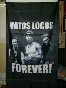 Vatos Locos forever flag 3 x 5 foot flag homeboys flag garage man cave shop Raza