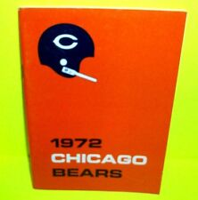 1972 NFL Football CHICAGO BEARS media guide DICK BUTKUS GALE SAYERS Photos Stats