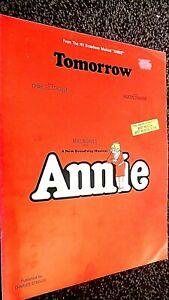 TOMORROW: THEME FROM THE MUSICAL ' ANNIE' (SHEET MUSIC)