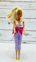 """MATTEL BARBIE Doll Long Blonde Hair Blue Eyes Two Piece 12"""" Tall Used Free Ship"""