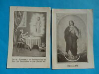 LOT 2 IMAGES PIEUSES HOLY CARD FRANCISCAINS METZ MARIE immaculee  JESUS THFR