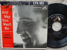 Elvis Presley - USA EPA 965 - Anyway You Want Me - RARER SILVER LINED 45 RPM +PS