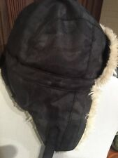 Columbia Unisex Hood With Ear Flaps Faux Fur Lined L/XL Grey Camo