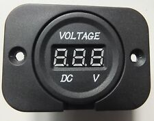 Voltmeter Socket Flush Square Mount for Car 4x4 Camper Trailer Caravan 12 24vdc