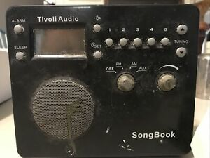 Tivoli Audio AM/FM Alarm Clock Travel Radio SongBook