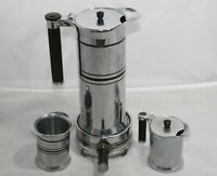 Sunbeam Art Deco Chrome & Bakelite 4 Piece Electric Coffee Service Set