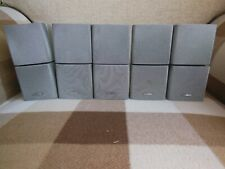 5 X Bose Double Cube Speakers. Fully Working Order in Silver