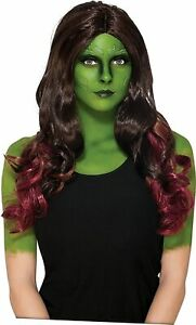 Gamora Wig Guardians Galaxy Marvel Fancy Dress Up Halloween Costume Accessory
