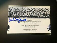 John McGrath Band Of Brothers 101st Airborne E Co autographed signed Photo