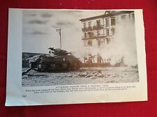 m12x ephemera ww2 1940s picture sherman tank attacks ortona