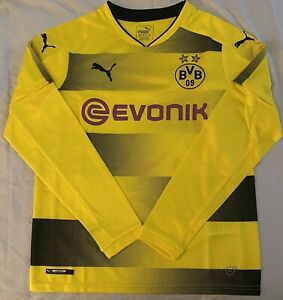 Puma Youth Borussia Dortmund Long Sleeve Yellow Soccer Jersey. Youth Size XLarge