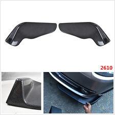 2x Winglet Carbon Fiber Style Car SUV Front Bumper Lip Diffuser Splitter Canard