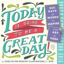 Today Is Going to Be a Great Day! Color Page-A-Day Calendar 2016, Workman Publis