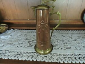 Art Nouveau Copper/Brass Wurttembergische Jug/Pitcher