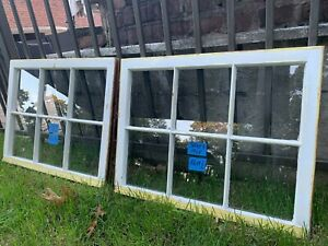 2 - 30 x 23 Vintage Window  sashes old 6 pane From 1948  Arts & Craft