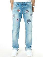 Jack & Jones |Herren Jeans Hose mit Patches |Clark Regular Fit | W33 L36