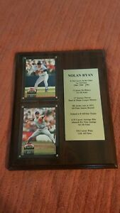 Nolan Ryan Career Statistics Upper Deck Plaque