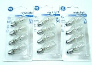 12-Pack GE 4w Night Light / Appliance / ETC Bulbs 20572 - C7 / E12 - Clear 73257