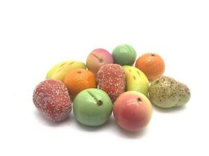 MARZIPAN FRUITS Hand Finished Marzipan Fruits Assorted Traditional English Sweet