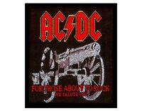 AC/DC for those about to rock we salute WOVEN SEW ON PATCH official merchandise