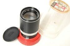 ZEISS CONTAFLEX 126 TELE TESSAR 135MM f/4. MINTY. W/ KEEPER & CAP