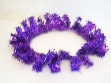 6 INCH PURPLE HOLOGRAPHIC TINSEL CANDLE RING HALLOWEEN CHRISTMAS DECORATION