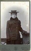 DANEMARK DENMARK ODENSE adolescente élégante Fashion CDV photo circa 1890