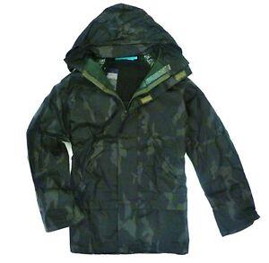 STEALTH CAMO WATERPROOF WINDPROOF JACKET fishing kagool hunting coat DPM green
