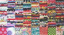 "200 Assorted  pre cut charm pack 2.5"" squares 100% cotton fabric quilt scrap"