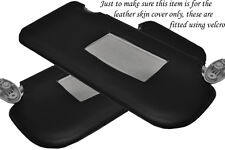 BLACK STITCH FITS FORD FIESTA MK6 MK7 FUSION 02-08 2X SUN VISORS LEATHER COVERS