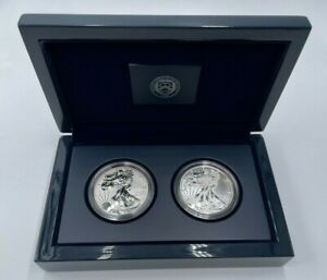 2013 W American Eagle Two Coin Silver Set OGP with COA Uncirculated US Mint