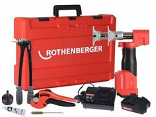 Rothenberger ROMAX AXIAL REHAU TOOL KIT Flat Wide Base +Battery & Charger
